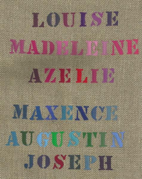 Trousse d'écolier + motif + prénom lettres cursives