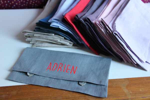 Pochette de serviette de table + 1 perso flex