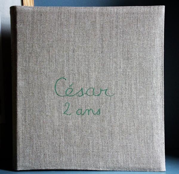 Album de photo personnalisable - 2 Lignes en Lettres cursives