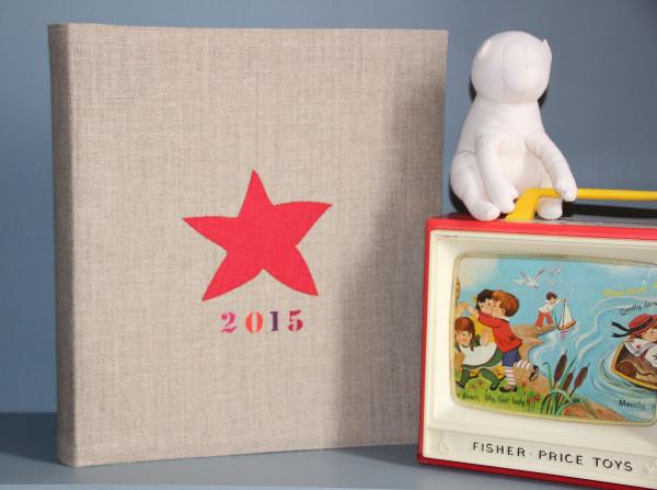 Album de photo personnalisable - 1 Etoile en lin + 1 perso peinture
