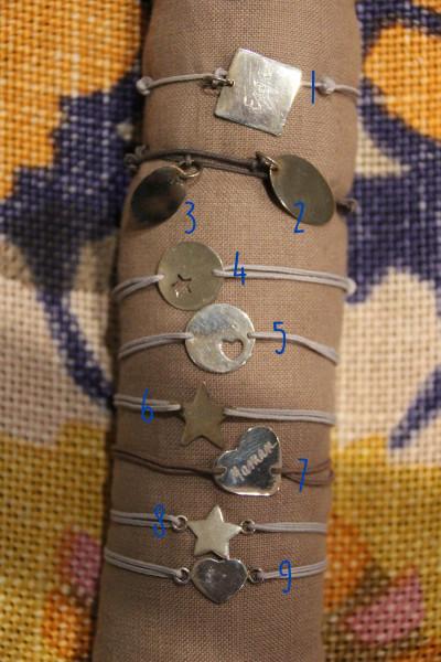 Bracelets en argent personnalisés