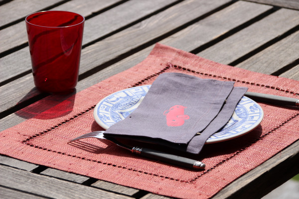 Pochette de serviette de table personnalisable + 1 motif flex
