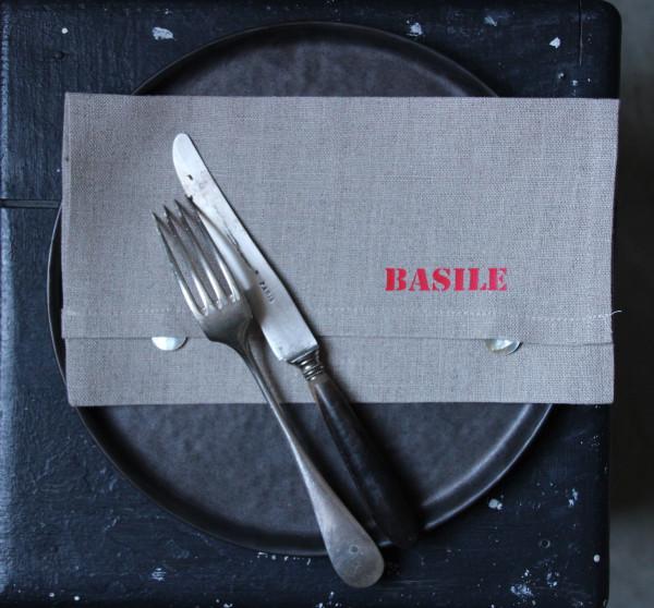 Pochette de serviette de table 1 perso flex lin cie - Pochette serviette de table ...