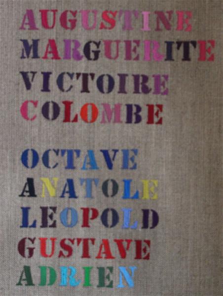 Trousse personnalisée plate LARGE en Coton + 1 perso peinture unie Lettres cursives