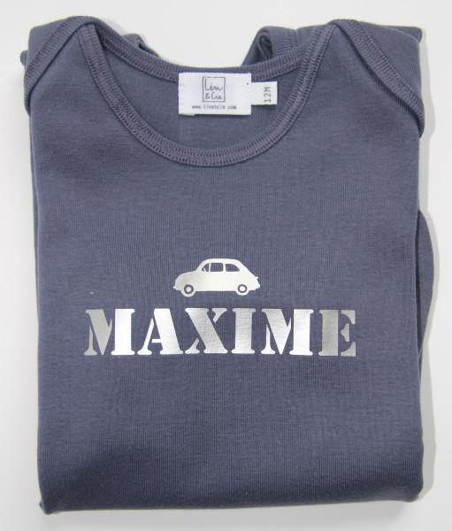 Pyjama bébé avec 1 prénom et 1 motif en flex