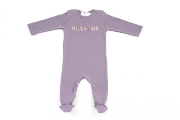 Pyjama bébé avec 1 prénom en Liberty