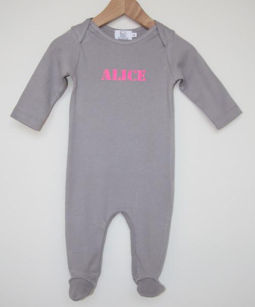 Pyjama bébé avec 1 prénom en Flex
